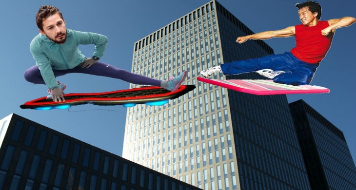 Así photoshopearon a Shia LaBeouf tabla voladora