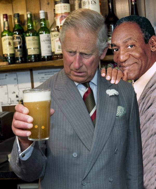 Internet Photoshopea al Príncipe Carlos con su cerveza