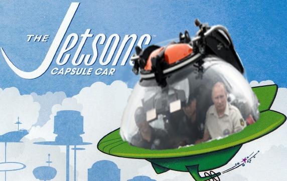 Internet trollea a Putin dentro de su batiscafo con una batalla de Photoshop supersónicos