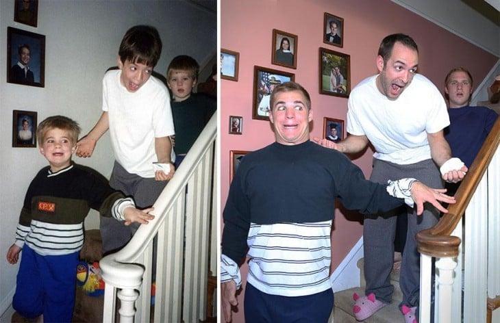 Hermanos Recrean Su Infancia Para Regalarlas A Su Madre