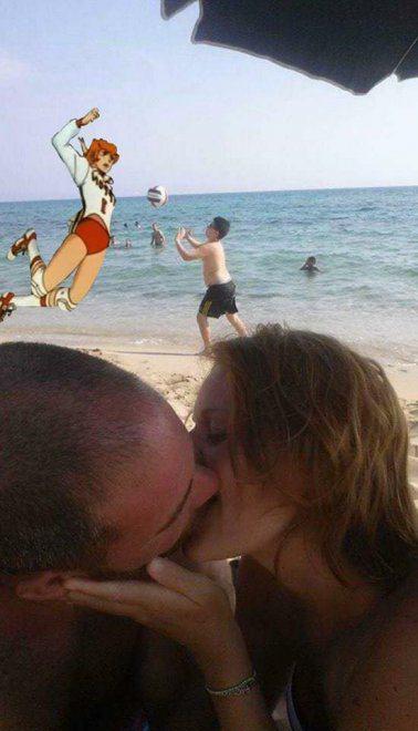 Pide que photoshopeen al niño para sacarlo de la foto basquetbal