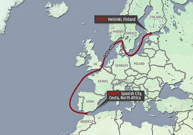Viaja en jetsky de Finlandia a África para romper record