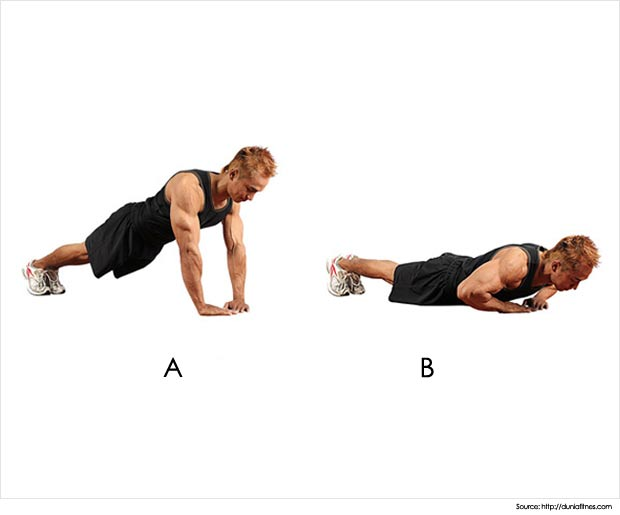 urbanwired.com Push-up-Routine-For-Beginners-Narrow-Grip-Push-Up