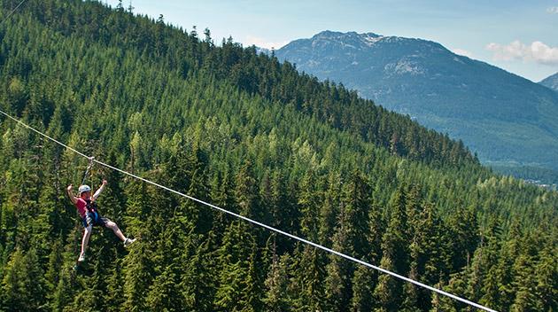 La tirolesa más grande de América del Norte está en Canadá