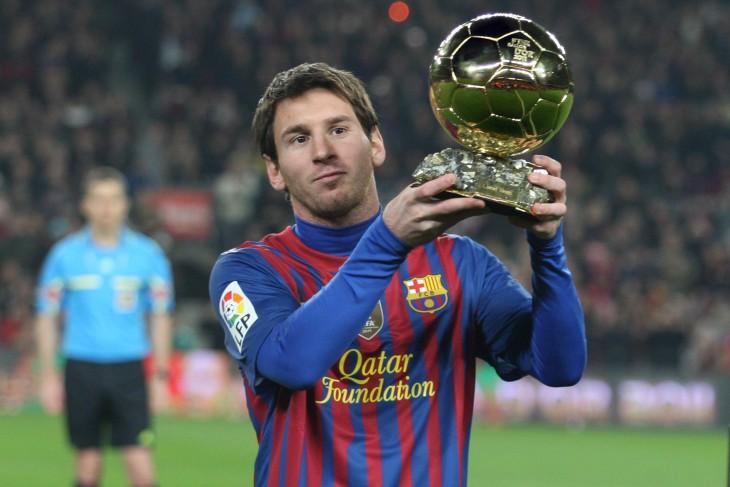 Leo Messi con balón de oro