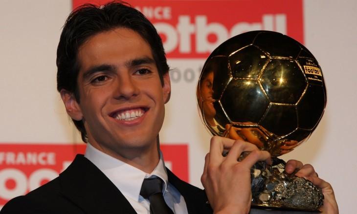Kaká con balón de oro