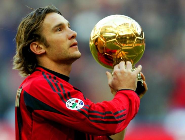 Shevchenko con balón de oro