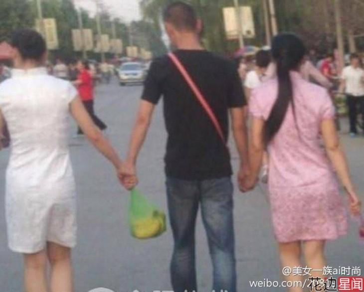 hombre con dos esposas en china
