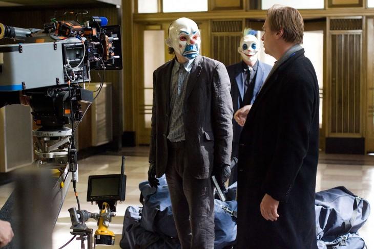 Heath Ledger y Cristopher Nolan en El caballero de la noche