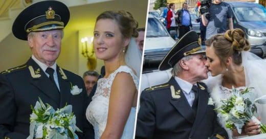 Actor ruso de 84 años se casó con su EXALUMNA 60 años menor que él