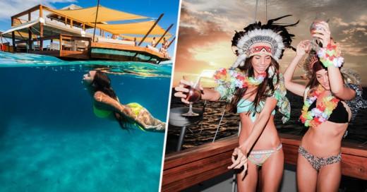 Conoce el Cloud 9, el paradisíaco bar flotante en Fiji