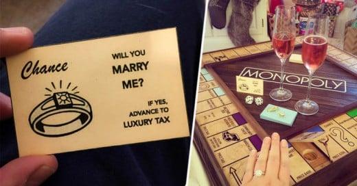 Crea tablero de Monopoly para proponerle matrimonio a su novia ¡Impresionante!