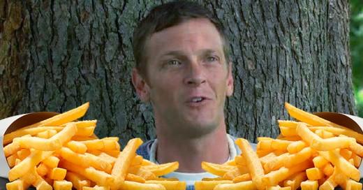 Hombre se pone borracho cada vez que come papas fritas