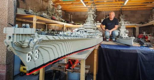 Hombre construye el barco más grande del mundo ¡Todo hecho con Legos!
