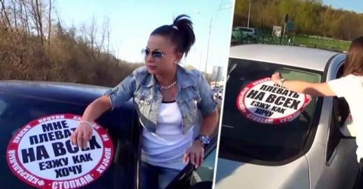 Jovenes rusos le dan su merecido a quienes manejan por la acera