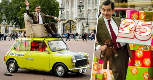 Mr. Bean Celebra 25 años Manejando su famoso coche