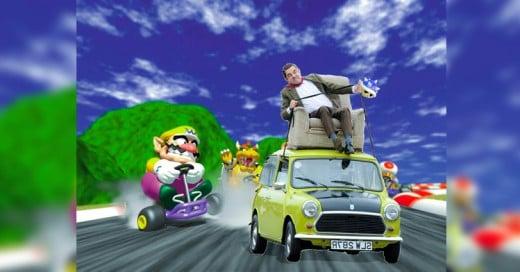 Photoshopean a Mr Bean manejando su clásico auto! ROWAN ATKINSON