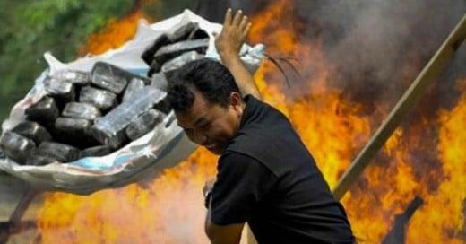 Policía quema toneladas de marihuana y todo el pueblo sufre el efecto