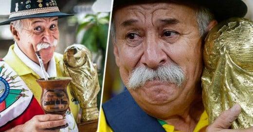 Falleció el Gaucho da Copa, el fan incondicional de Brasil que sostenía la Copa del Mundo en Brasil 2014