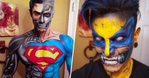 Se convierte en Super héroes solamente usando maquillaje