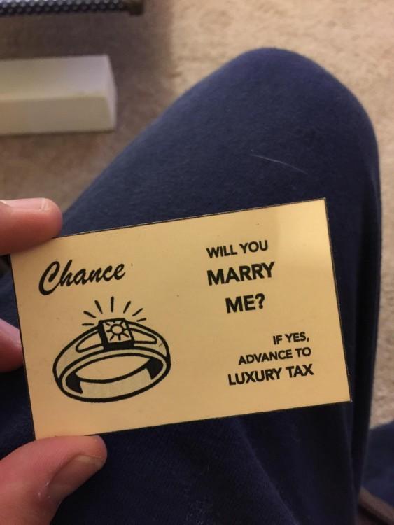 carta de monopoly te quieres casar conmigo