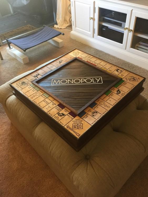 tablero de monopoly para pedir matrimonio