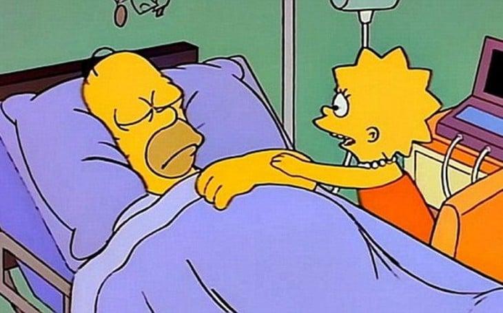 Homero y Lisa en coma