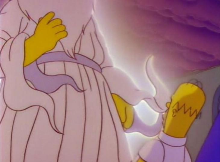 Homero Simpson y dios