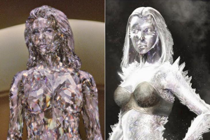 """Comparación de bocetos de Emma Frost, """"X-men: Primera Generación"""""""