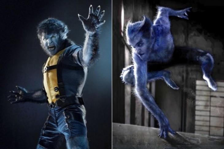 """Antes y después de bocetos de Beast, """"X-men: Primera Generación"""""""