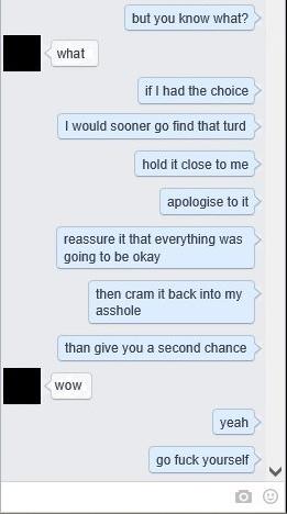 Novio le respone a su ex cuando le pide regresar, tercer mensaje