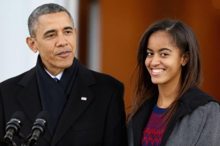 Barack Obama y su hija Malia