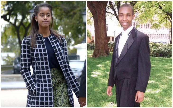 Felix Kiprono y Malia Obama