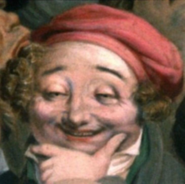 pintura cara de hombre drogado