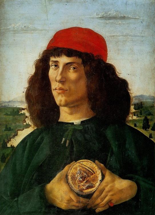 Pintura hombre con moneda