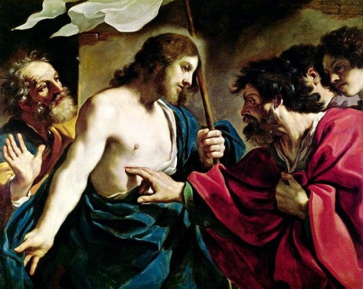 Pintura cristo frente a los discípulos