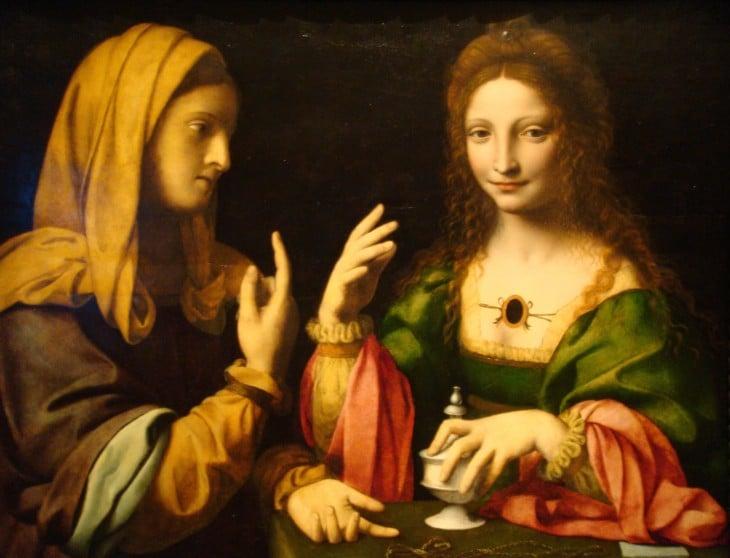 Pintura dos mujeres doble sentido