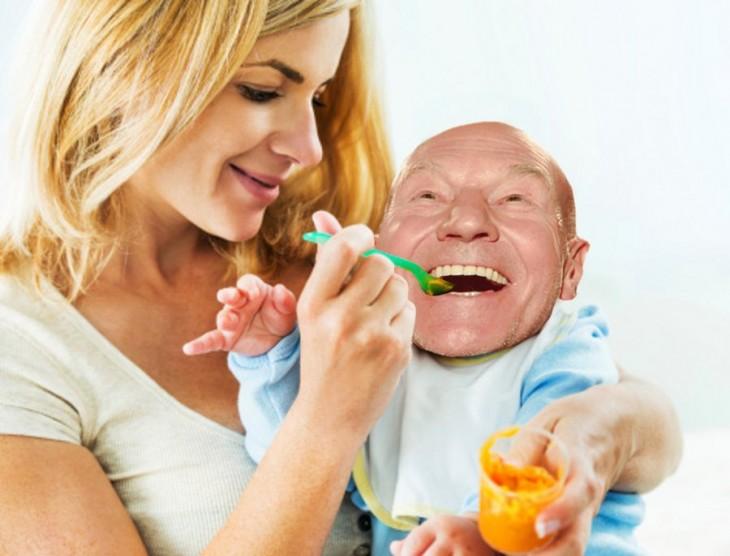 Patrick Stewart photoshop, bebé