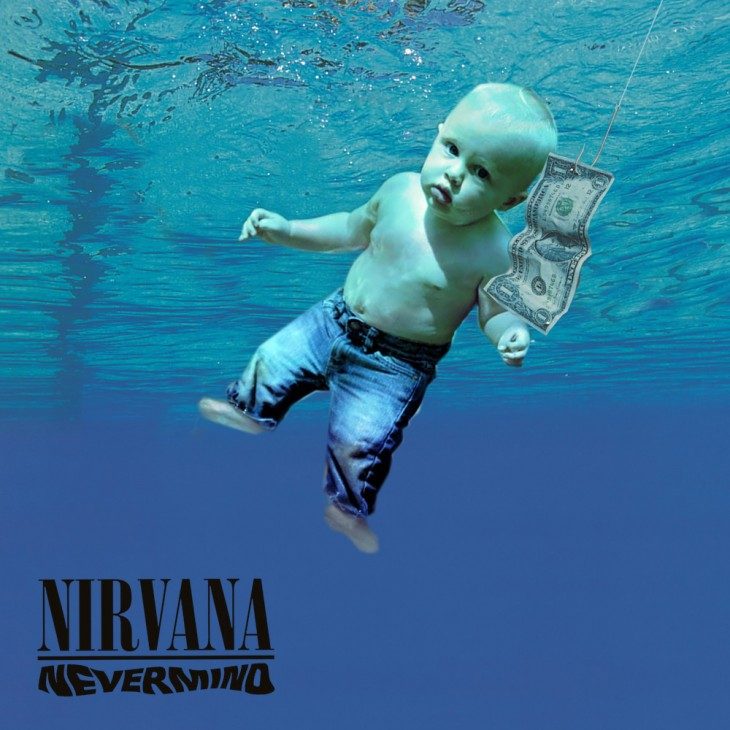 Photoshopean a bebé, nirvana