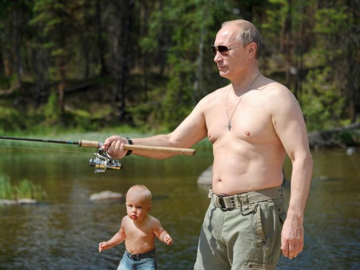 Photoshopean a bebé, con putin