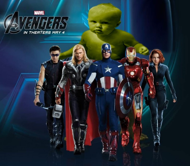 Photoshopean a bebé, the avengers