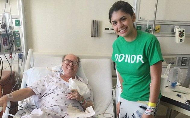 Dona riñón a enfermo de cáncer