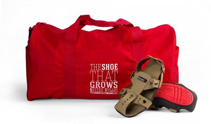 Zapatos crecen para niños