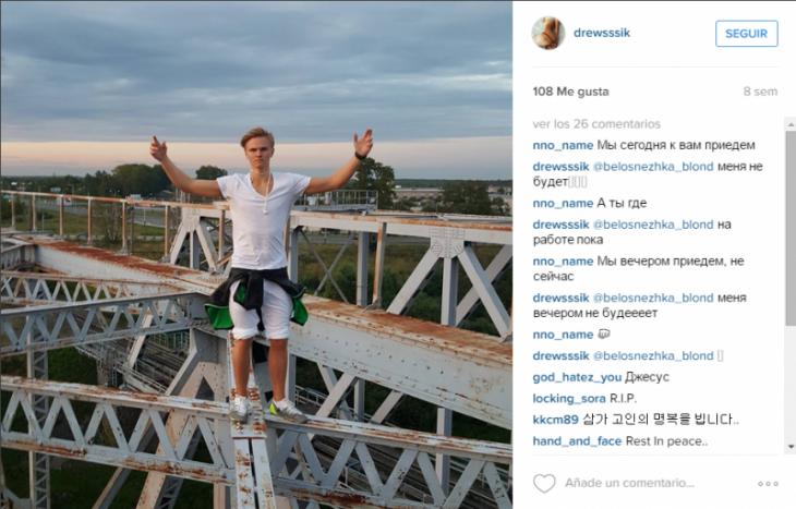 Joven ruso muere luego de caer de las alturas