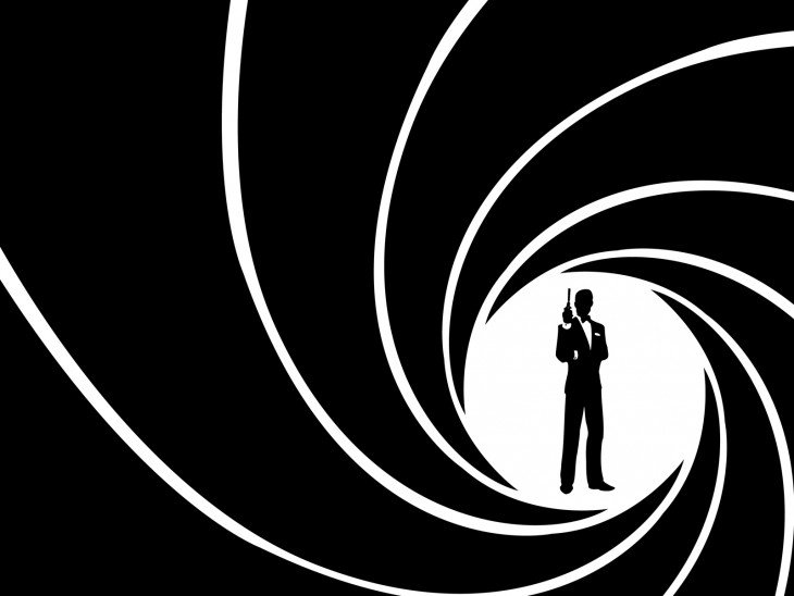 007 james bond vista clasica desde pistola