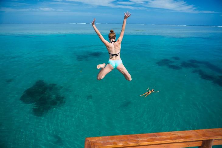 Salto hacia el mar