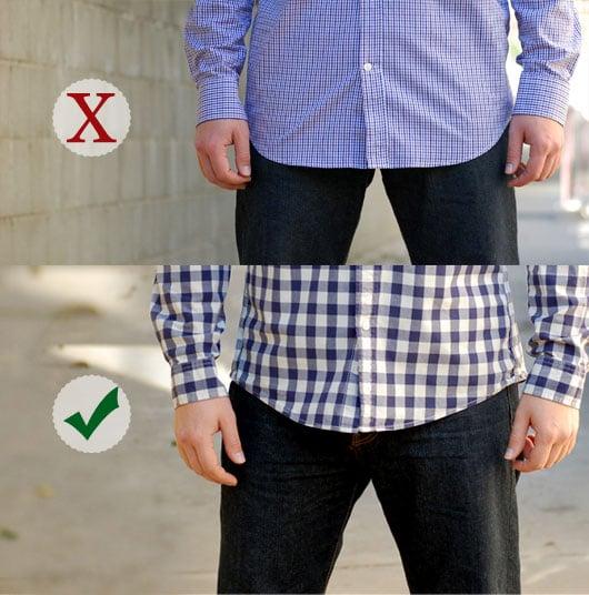 usar camisa corta correctamente