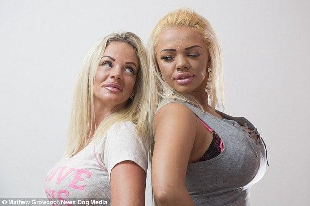 Madre e Hija buscan parecerse a Katie Price