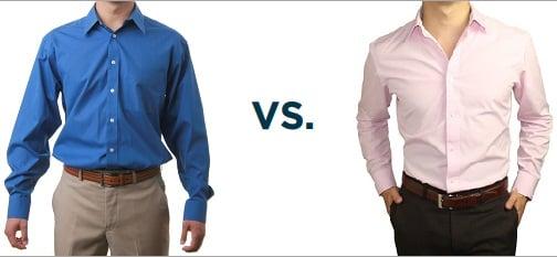 comparacion de camisa bien fajada y mal fajada