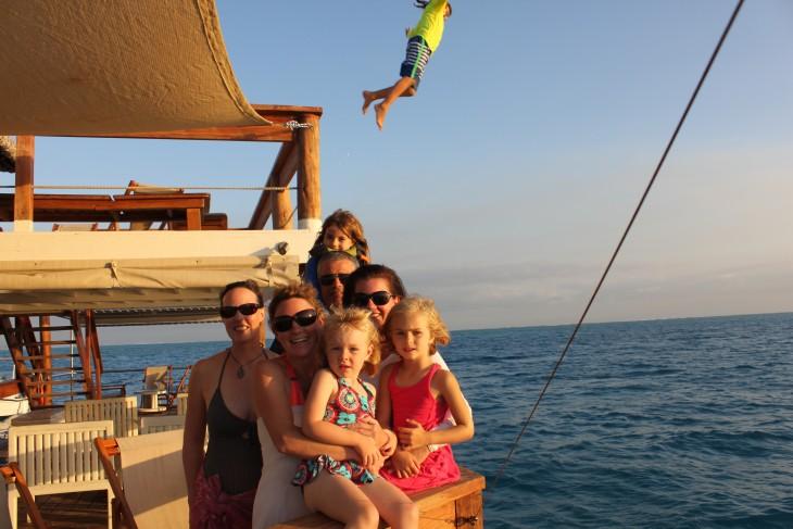 Familia vacaciona en Fiji